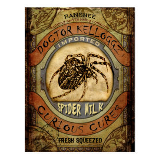 Spider Milk Postcard