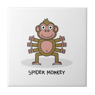 Spider Monkey Ceramic Tile