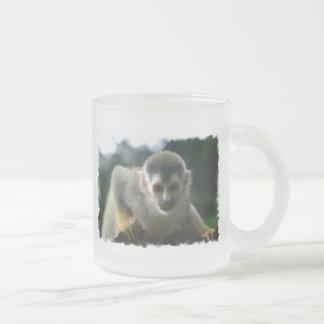 Spider Monkey Glass Coffee Mug