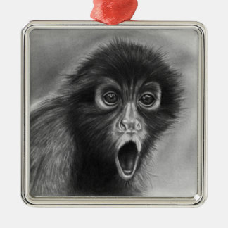 Spider Monkey Premium Ornament