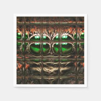Spider mosaic paper serviettes