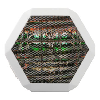 Spider mosaic white bluetooth speaker