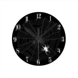 Spider net round clock