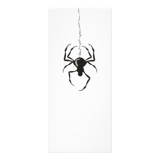 Spider on Strand Black Invitations
