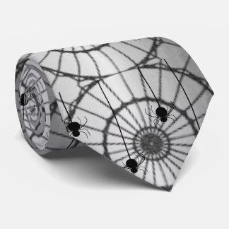 Spider on Web Tie-Gray Tie