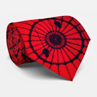 Spider on Web Tie-Red Tie