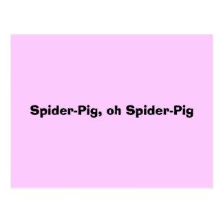 Spider-Pig, oh Spider-Pig Postcard
