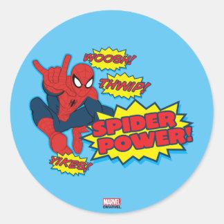 Spider Power Spider-Man Graphic Round Sticker