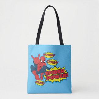 Spider Power Spider-Man Graphic Tote Bag