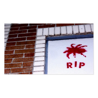 spider r.i.p. stencil pack of standard business cards