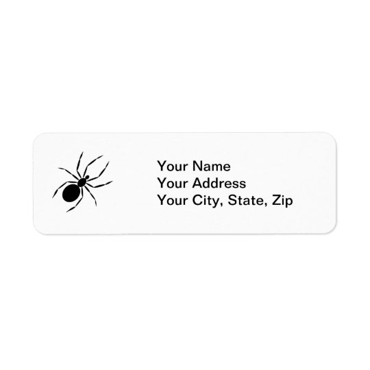 Spider Return Address Label