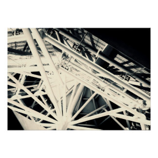 Spider Roof Struts Abstract Art Poster