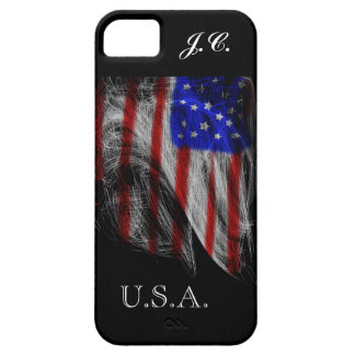 Spider's Dream – Stars and Stripes American Flag iPhone 5 Cover