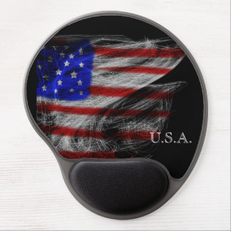 Spider's Dream – Stars and Stripes American Flag Gel Mouse Mats