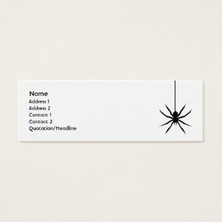 Spider - Skinny Mini Business Card