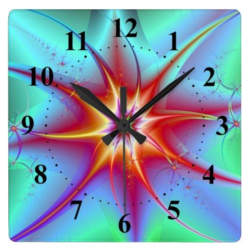 Spider Star Wall Clock