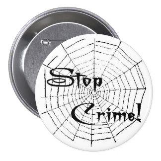 Spider web 7.5 cm round badge