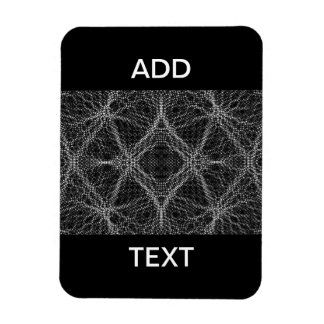 Spider Web Abstract Rectangular Photo Magnet