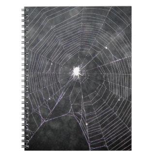 Spider Web At Night Notebook