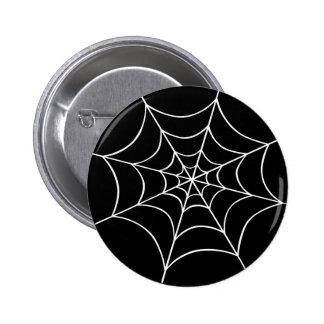 Spider Web 6 Cm Round Badge
