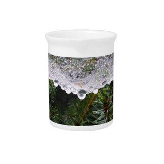 Spider web beverage pitcher