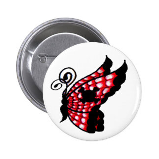 Spider Web Butterfly 6 Cm Round Badge