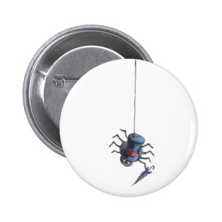 SPIDER & WEB by SHARON SHARPE 6 Cm Round Badge