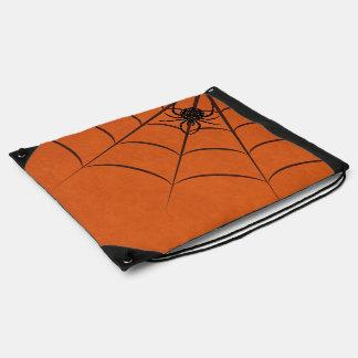 Spider & Web Drawstring Bag