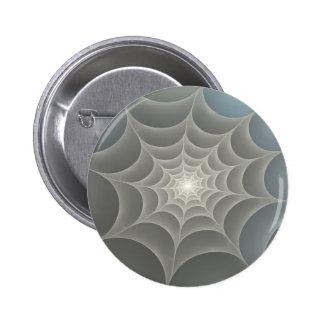 Spider Web Fractal 6 Cm Round Badge
