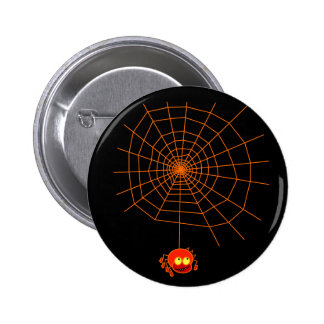 Spider Web Halloween Button