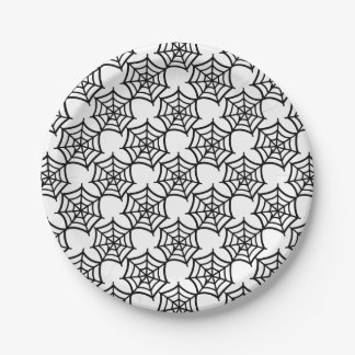 spider web halloween pattern 7 inch paper plate