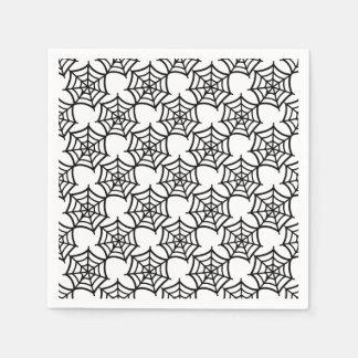 spider web halloween pattern disposable serviettes