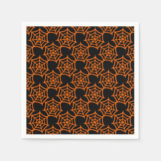 spider web halloween pattern paper napkins