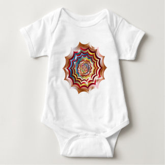 spider web hypnotic revitalized baby bodysuit