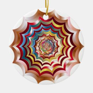 spider web hypnotic revitalized ceramic ornament