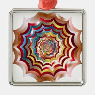 spider web hypnotic revitalized metal ornament