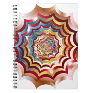 spider web hypnotic revitalized notebooks