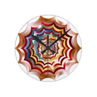 spider web hypnotic revitalized round clock