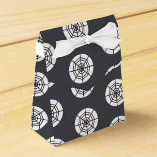 Spider web on grey background Halloween Party Favour Boxes