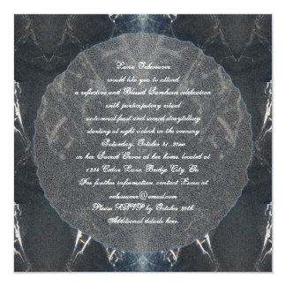 Spider Web Samhain Spooky Goth Gothic Card