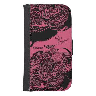 Spider Web Samsung Galaxy S4 Case black on pink