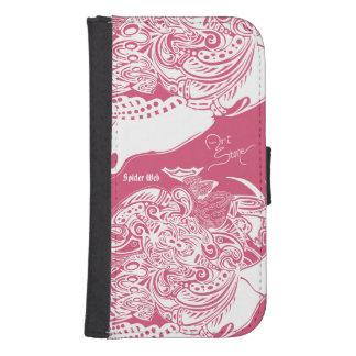 Spider Web Samsung Galaxy S4 Case white on pink