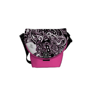Spider Web Shoulder bag in PINK Commuter Bag