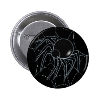 SPIDER WEB & SPIDER by SHARON SHARPE 6 Cm Round Badge