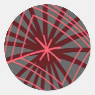 Spider Web Spiderweb Exotic Design Round Sticker