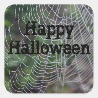 Spider Web Square Sticker