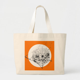 Spider Web The MUSEUM Zazzle Large Tote Bag