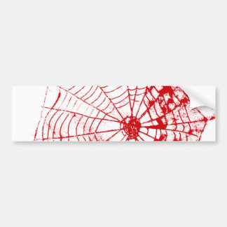 Spider Web The MUSEUM Zazzle Red Web Bumper Sticker