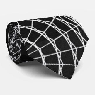 Spider Web Tie-White Tie