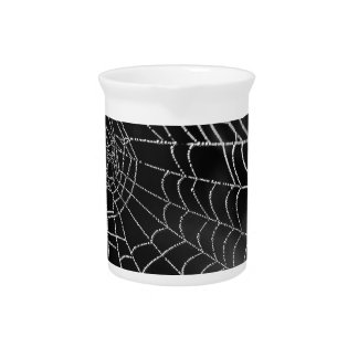 Spider web with water beads beverage pitchers